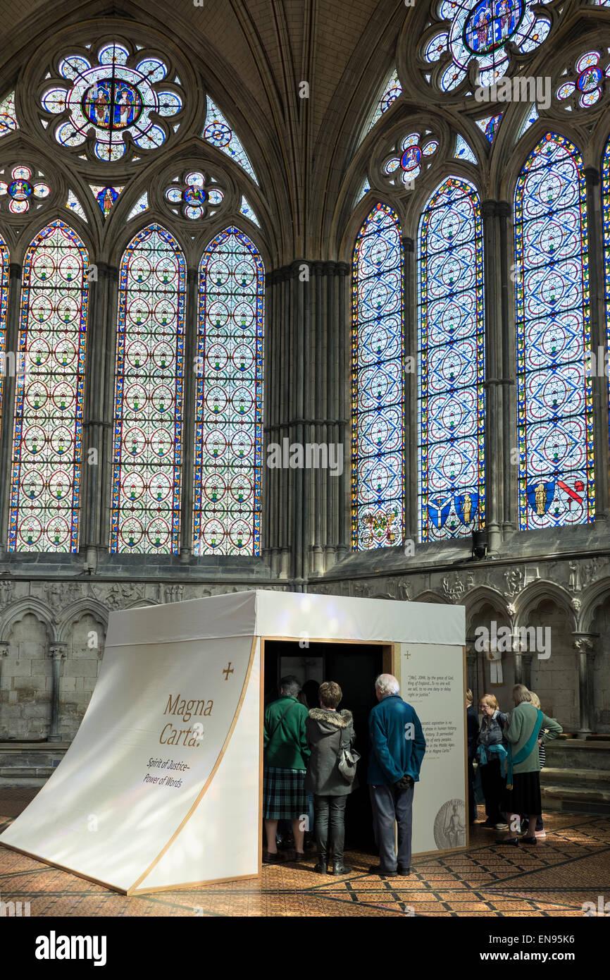 Salisbury cathedral magna carta exhibition