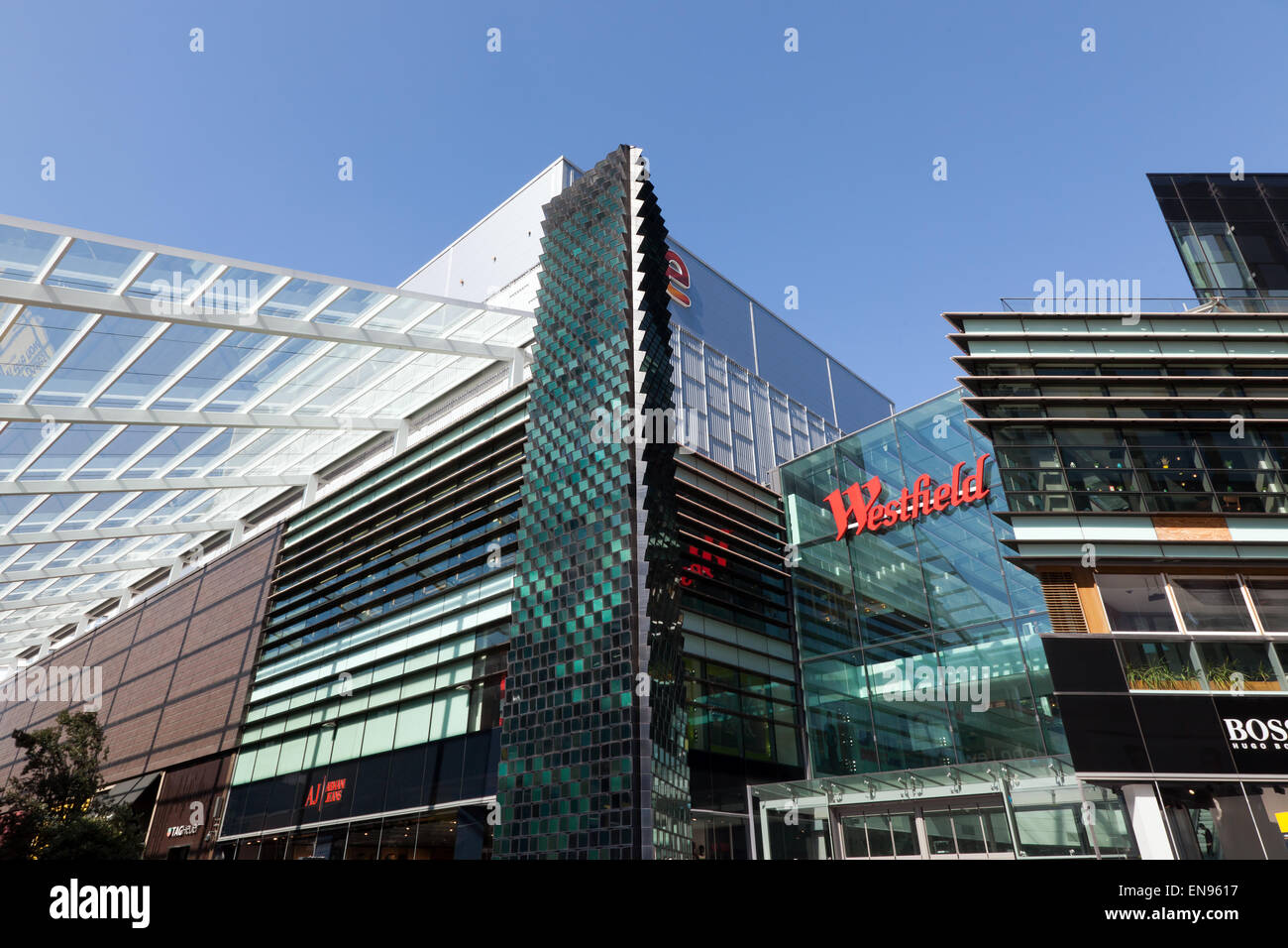 Part of the Westfield Shopping Centre Complex at Stratford London - Stock Image