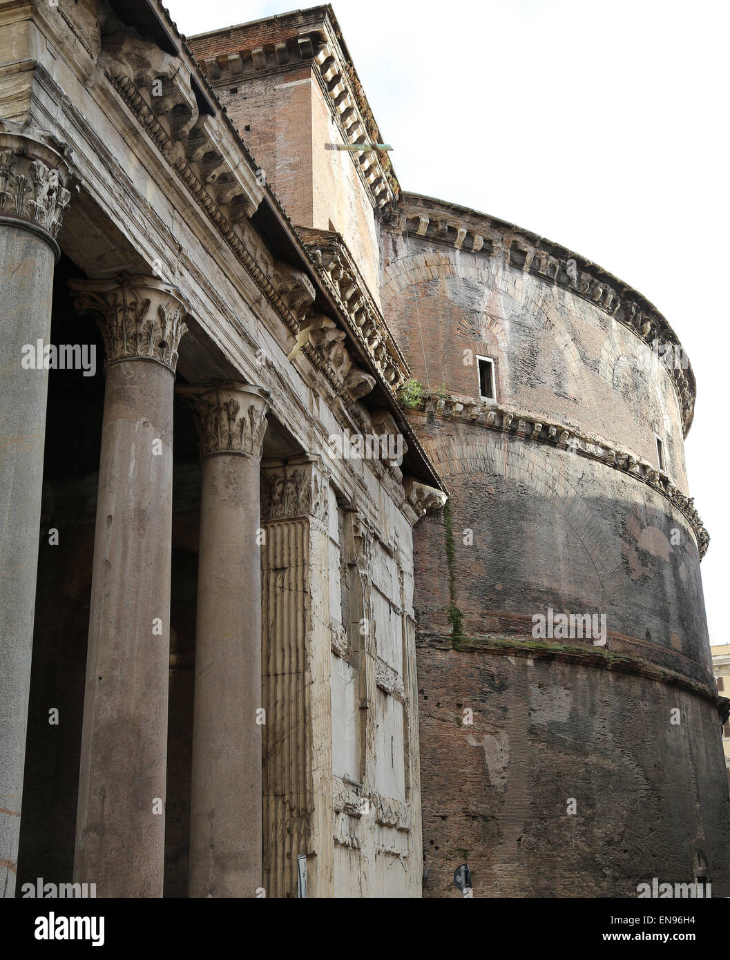 Italy. Rome. Pantheon. Roman temple. Exterior. Stock Photo