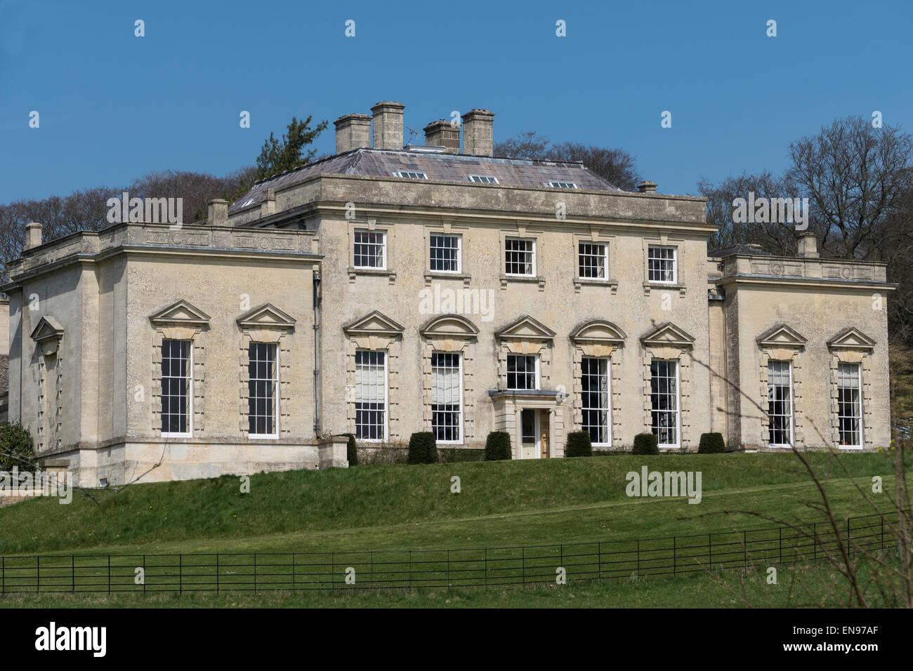 England, Gloucestershire, Painswick Rococo gardens, House - Stock Image