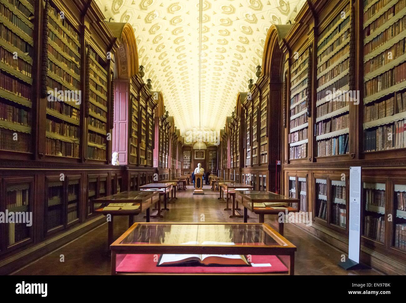 Italy, Parma, Della Pilotta palace, the Palatine Library - Stock Image