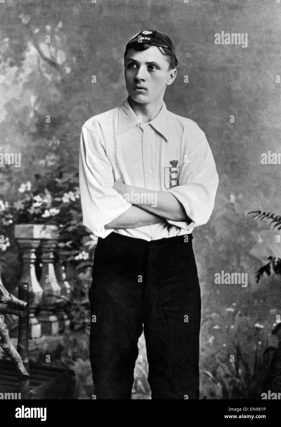Steve Bloomer, footballer for Derby County and England. c.1895 - Stock Image