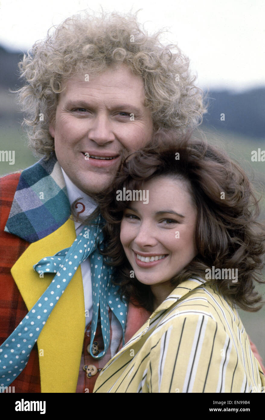 Actor Colin Baker, who plays Doctor Who in the BBC science fiction programme, photographed with his assistant Nicola - Stock Image