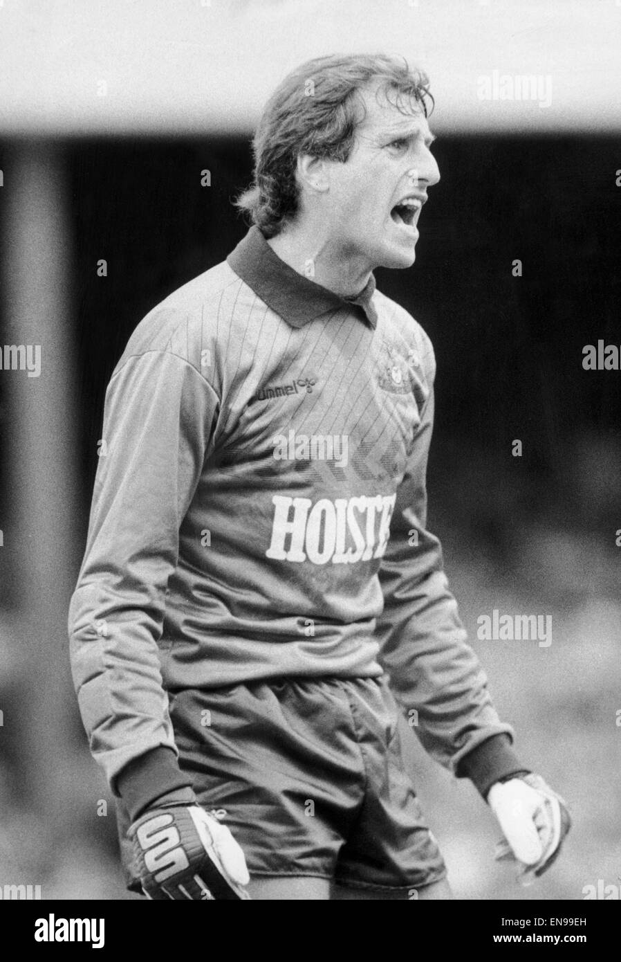 03e17532d70 Tottenham Hotspur goalkeeper Ray Clemence in action, circa December 1986. -  Stock Image