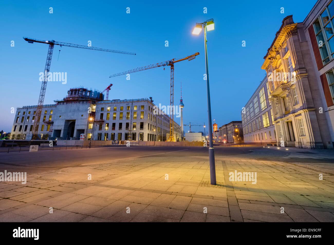 Building site Berlin Palace, Berlin, Germany Stock Photo