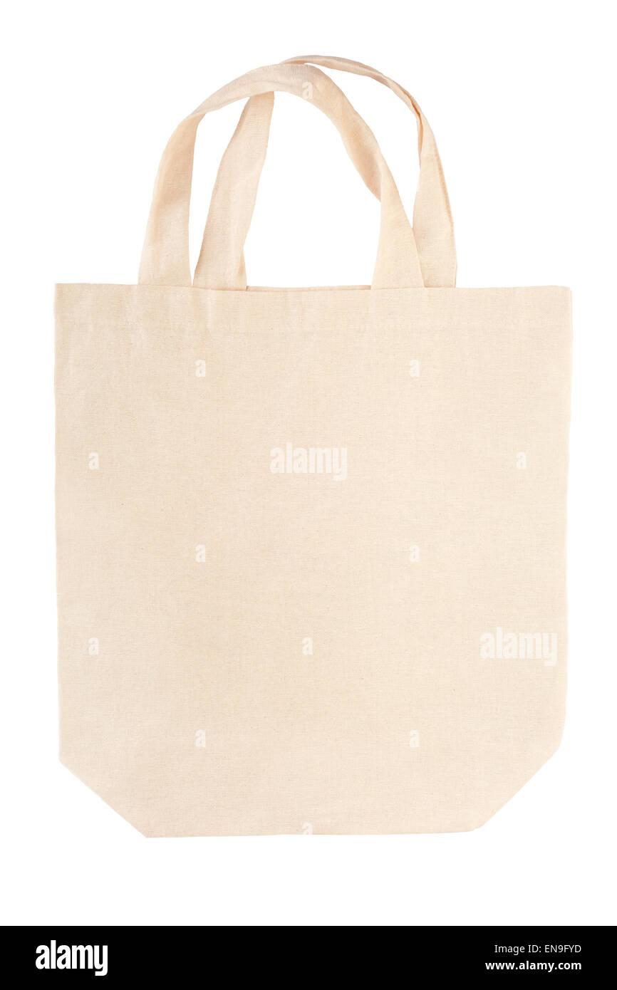 Fabric canvas bag - Stock Image