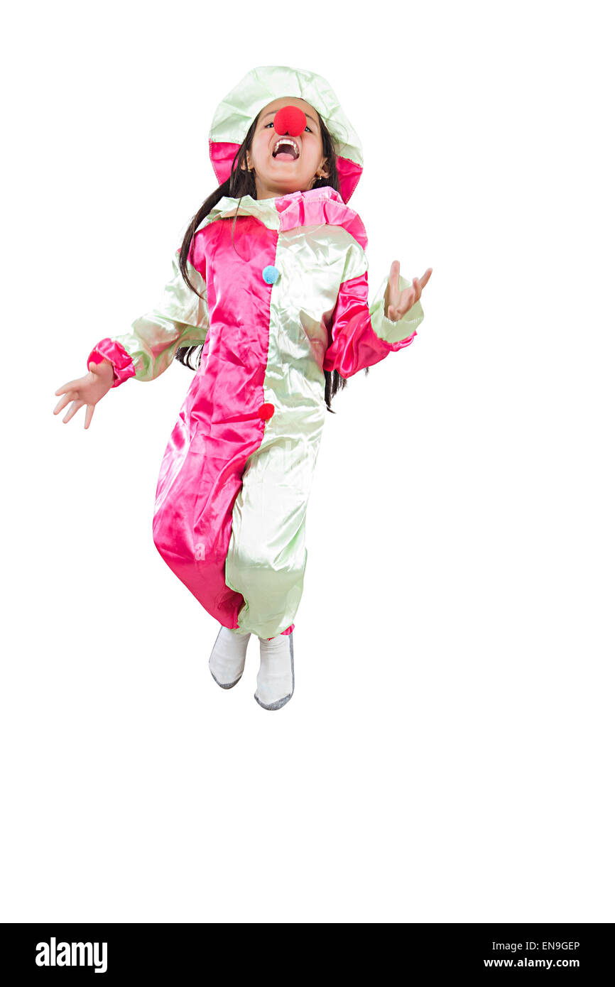 1 indian kids girl Joker Costume Jumping  sc 1 st  Alamy & 1 indian kids girl Joker Costume Jumping Stock Photo: 81959774 - Alamy
