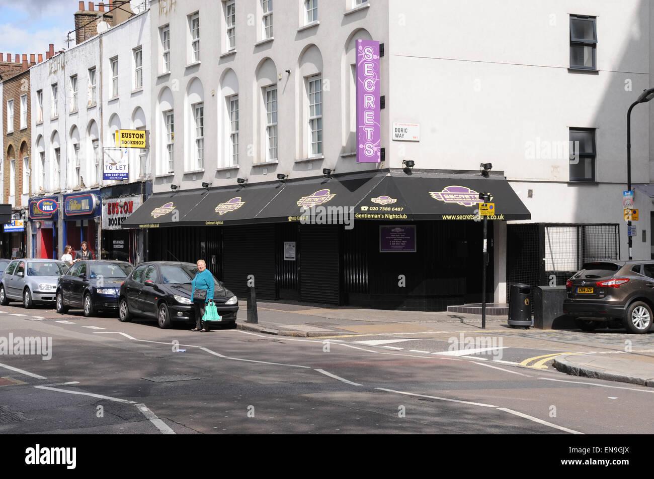 Secrets Gentleman's Nightclub Euston is the largest lap dancing club in the Secrets group. - Stock Image