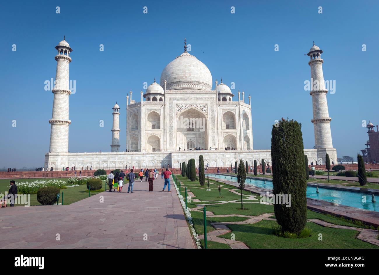 The Taj Mahal, Agra, India - Stock Image