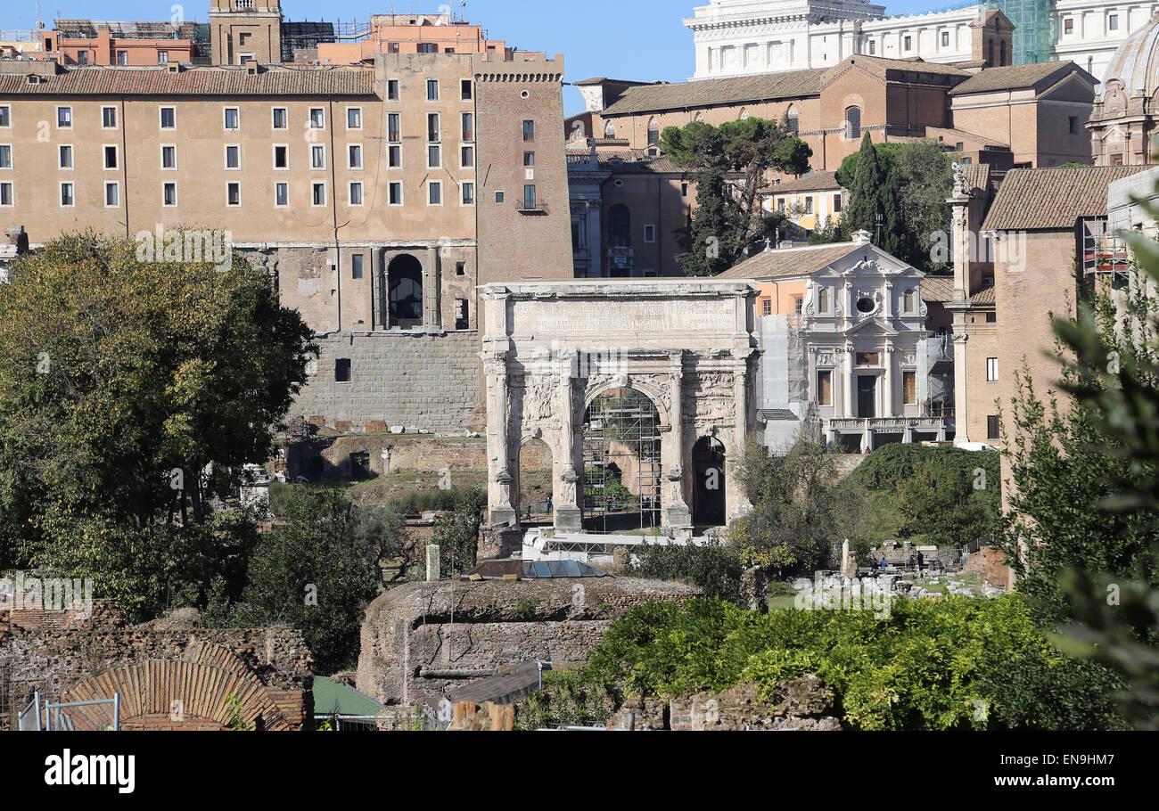 Italy. Rome. The Roman Forum. Panoramic. - Stock Image