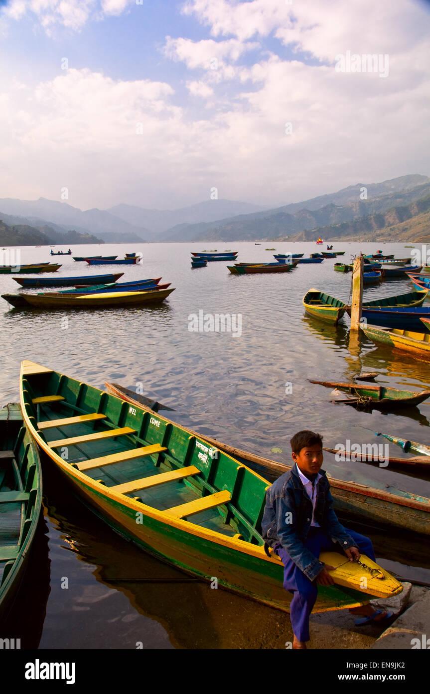 Phewa Lake - Stock Image