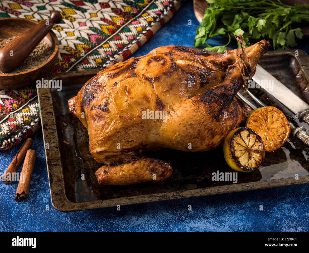 Morrocan chicken - Stock Image