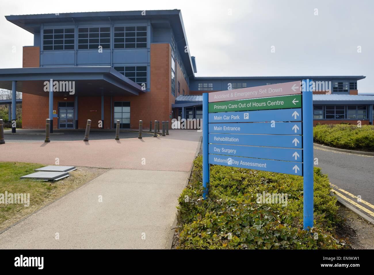 University Hospital Hairmyres, East Kilbride, South Lanarkshire, Scotland, UK - Stock Image