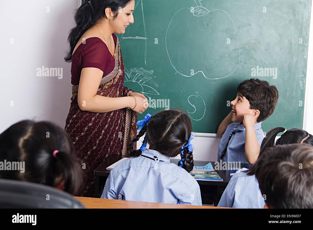 Indian teacher & student-3756