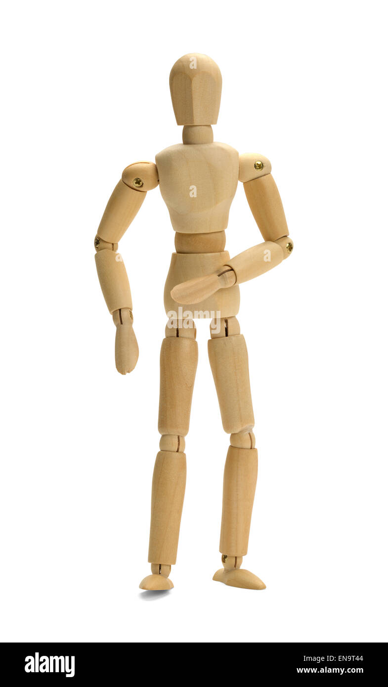 Human Art Doll Mannequin Isolated on White Background. - Stock Image