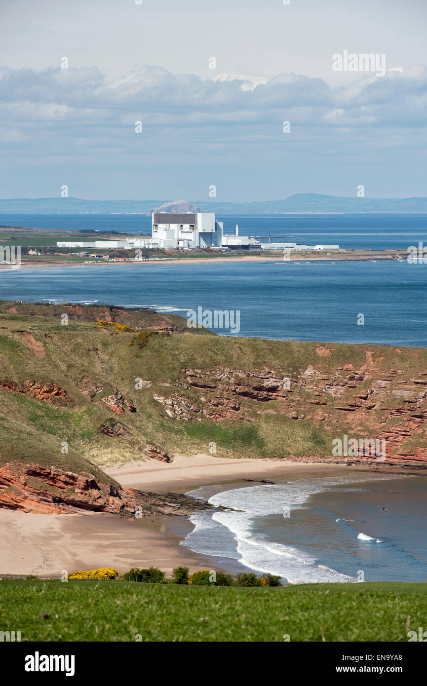 Torness nuclear power station. Torness Point near Dunbar in East Lothian, Scotland - Stock Image