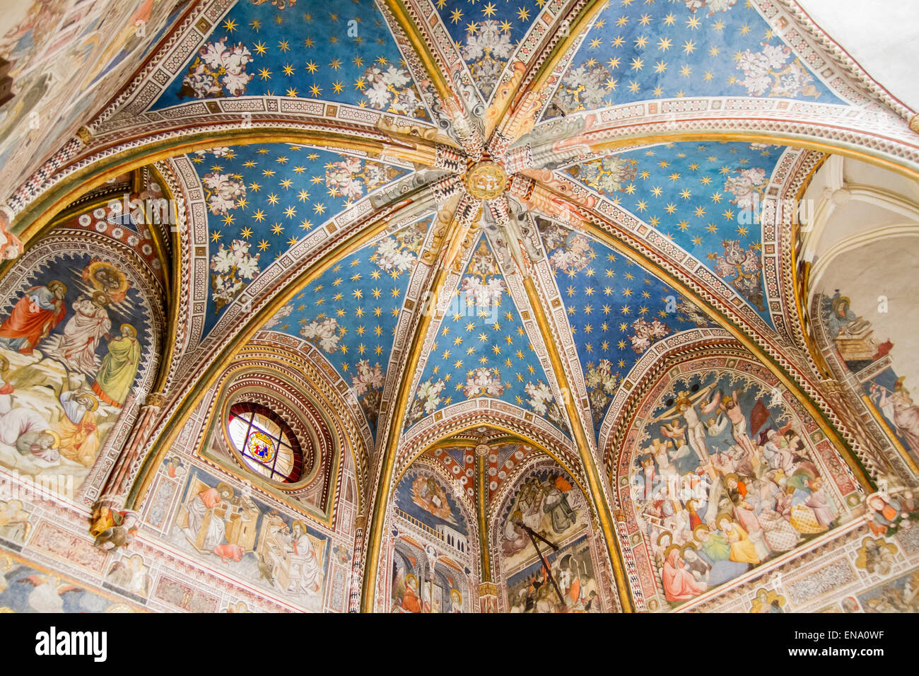 ruined chapel inside the Cathedral of Toledo, Spain - Stock Image