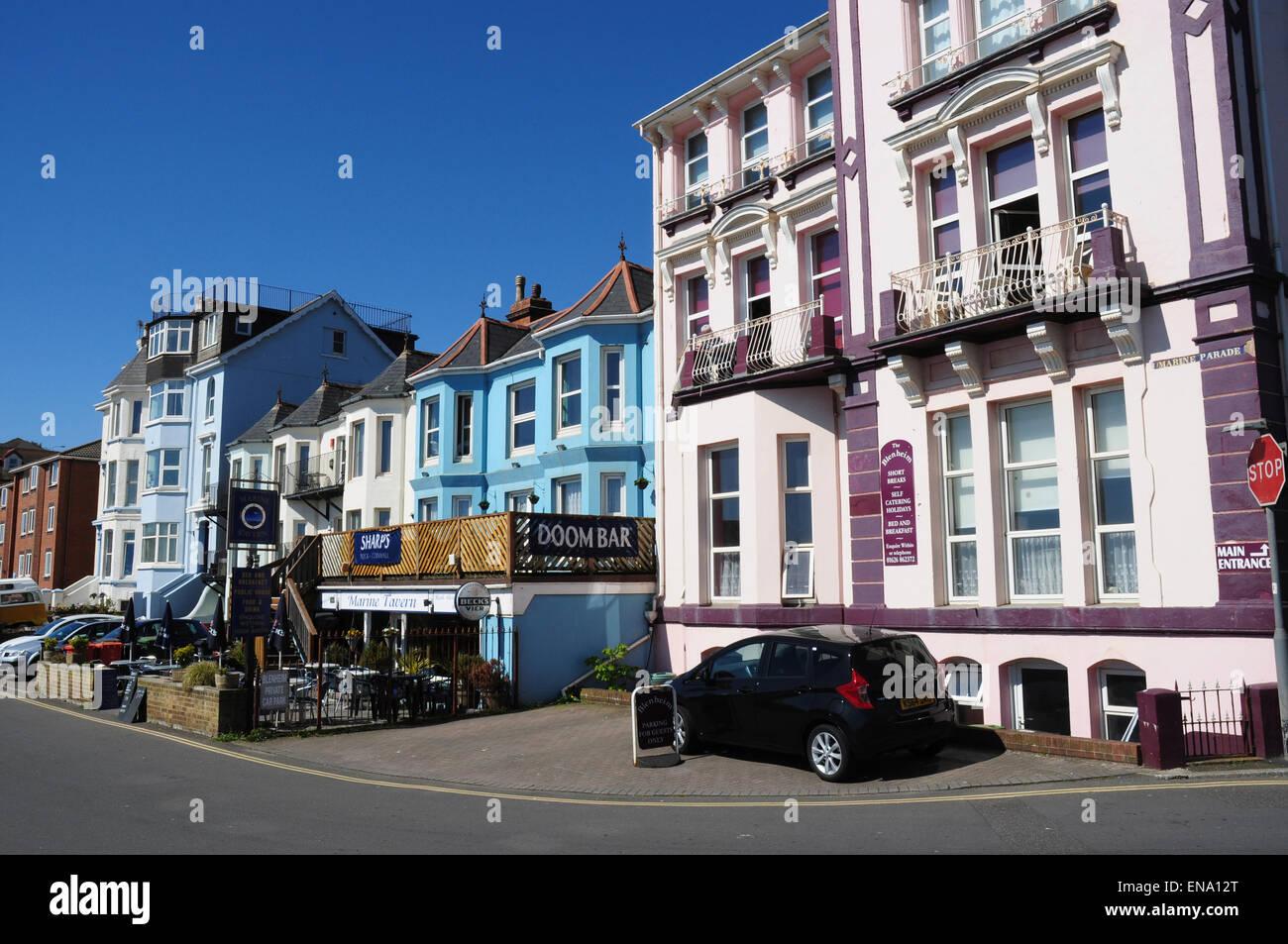 Marine Parade, Dawlish, Devon, England, UK - Stock Image