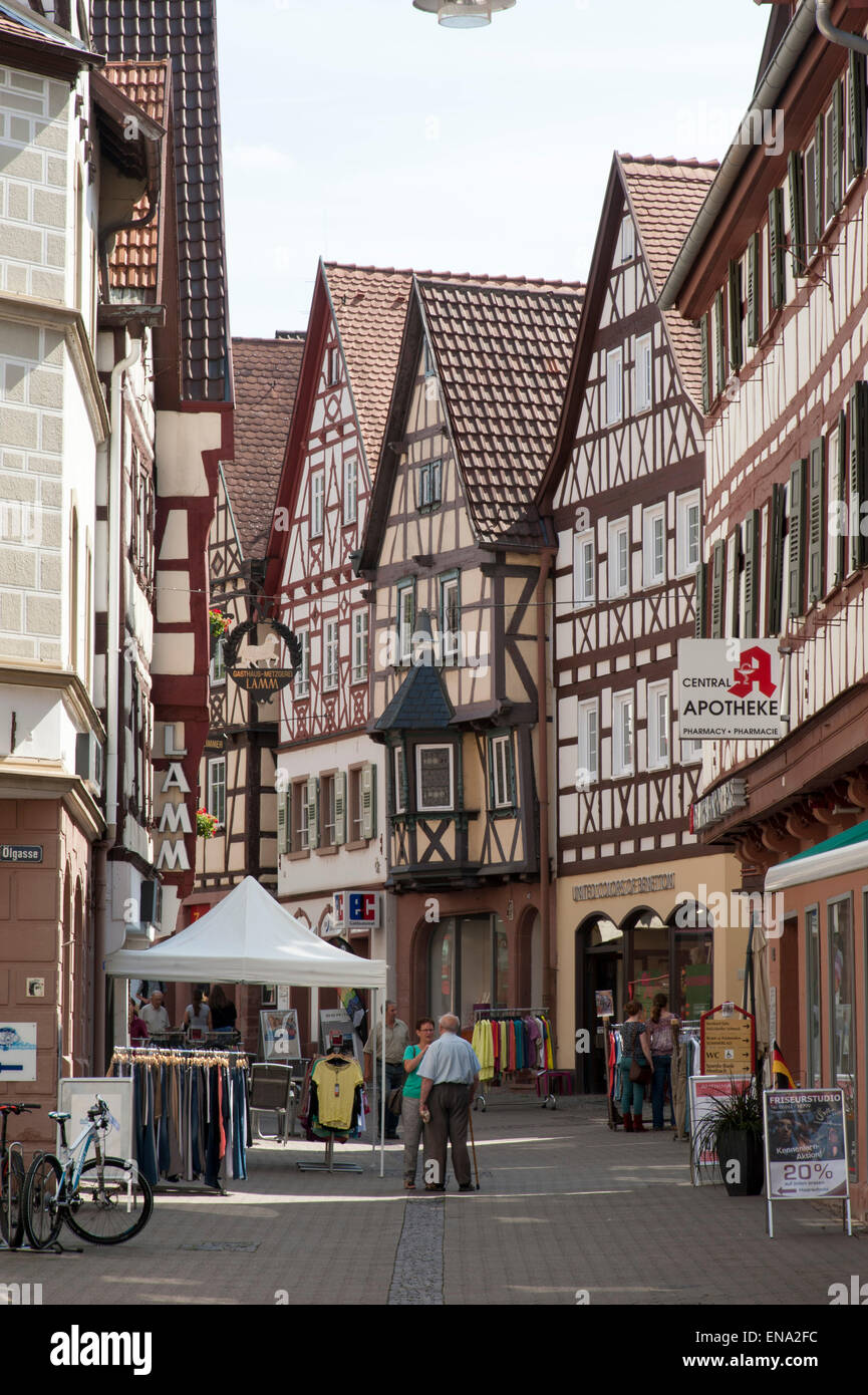 altstadt mosbach odenwald baden w rttemberg deutschland old town stock photo 81970768 alamy. Black Bedroom Furniture Sets. Home Design Ideas