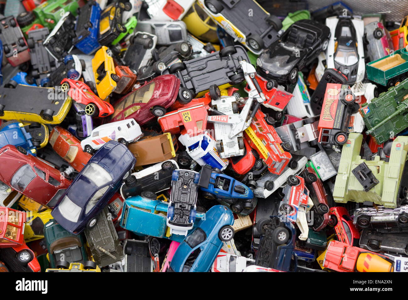 Old Ambulance For Sale >> Assortment of toy cars in a pile Stock Photo: 81971085 - Alamy