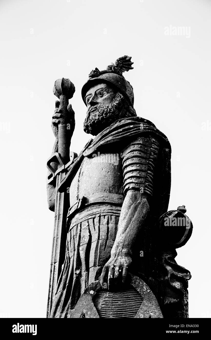 William Wallace Statue in the grounds of Bemersyde House, Dryburgh, Scottish Borders, Scotland - Stock Image