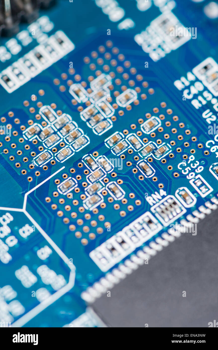 Smd Components Stock Photos Images Alamy Closeup Of Electronic Circuit Board Royalty Free Photography Blue Pcb With Detailed Close Up Shot Image