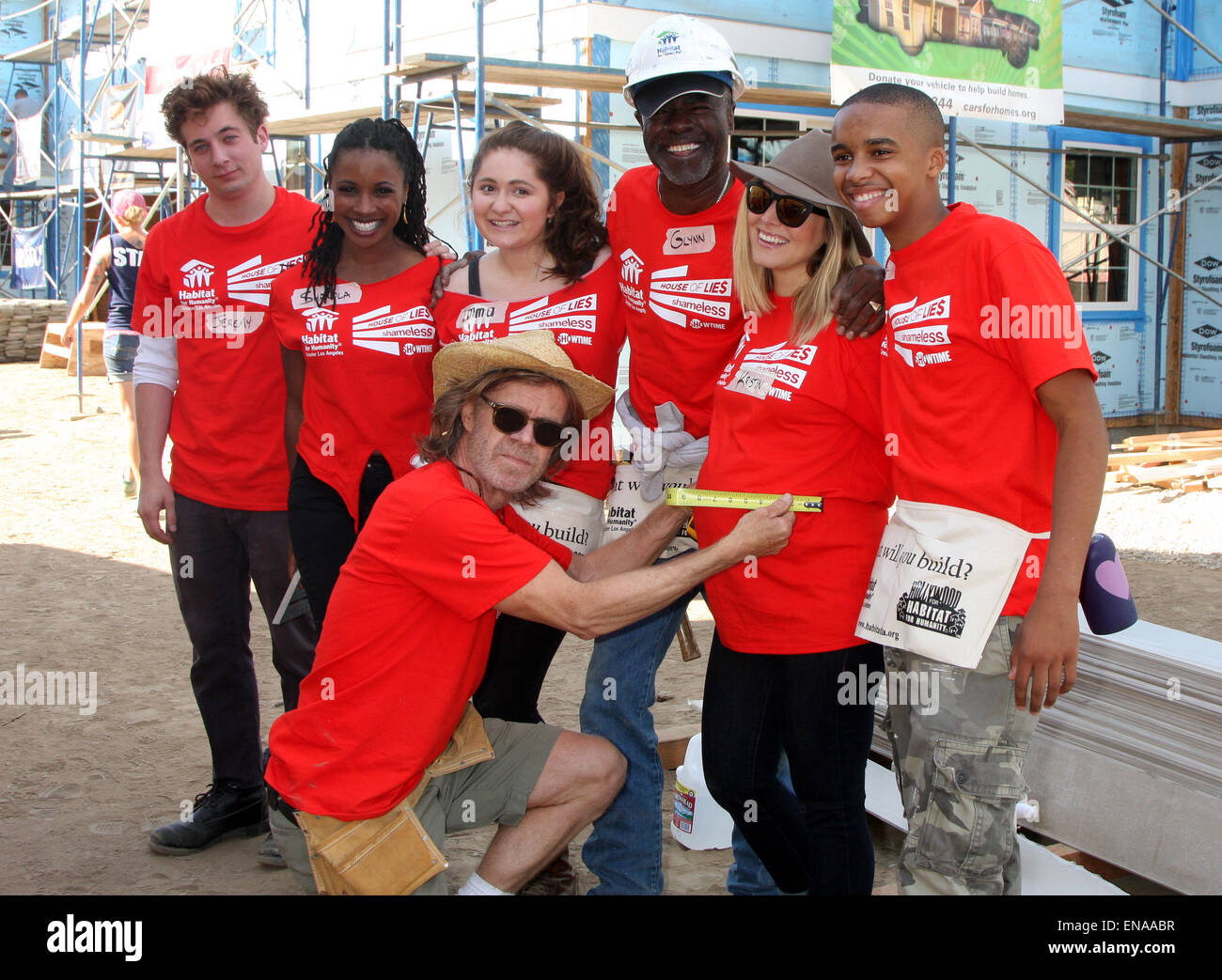 U0027Habitat For Humanityu0027 Greater Los Angeles House Build By The Cast Of  Showtimeu0027s Shameless And House Of Lies Featuring: Jeremy Allen  White,Shanola Hampton ...