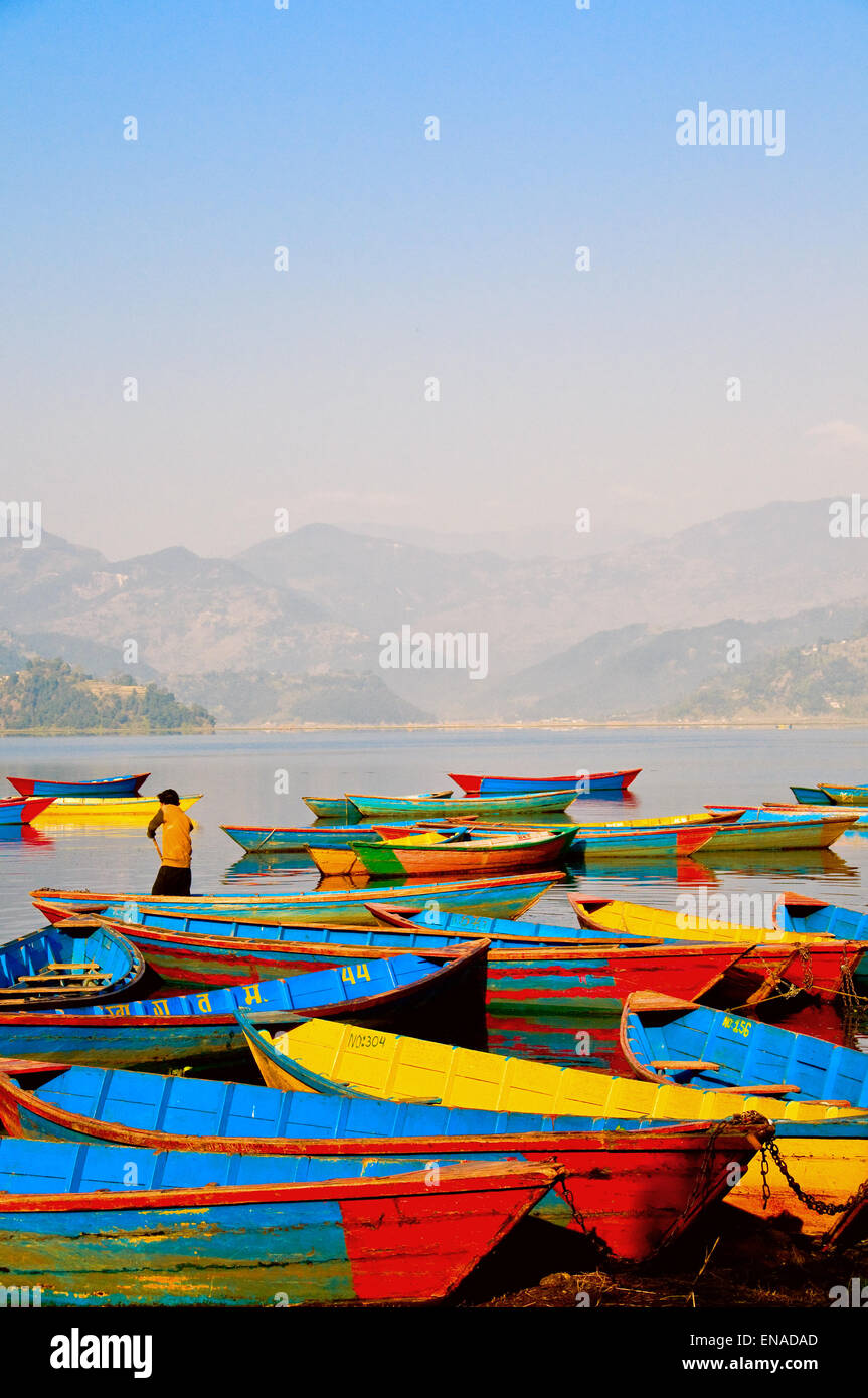 Population  About 170,000 thousand. It is believed that Pokhara was the city of Mallas, the rulers of Nepal about - Stock Image