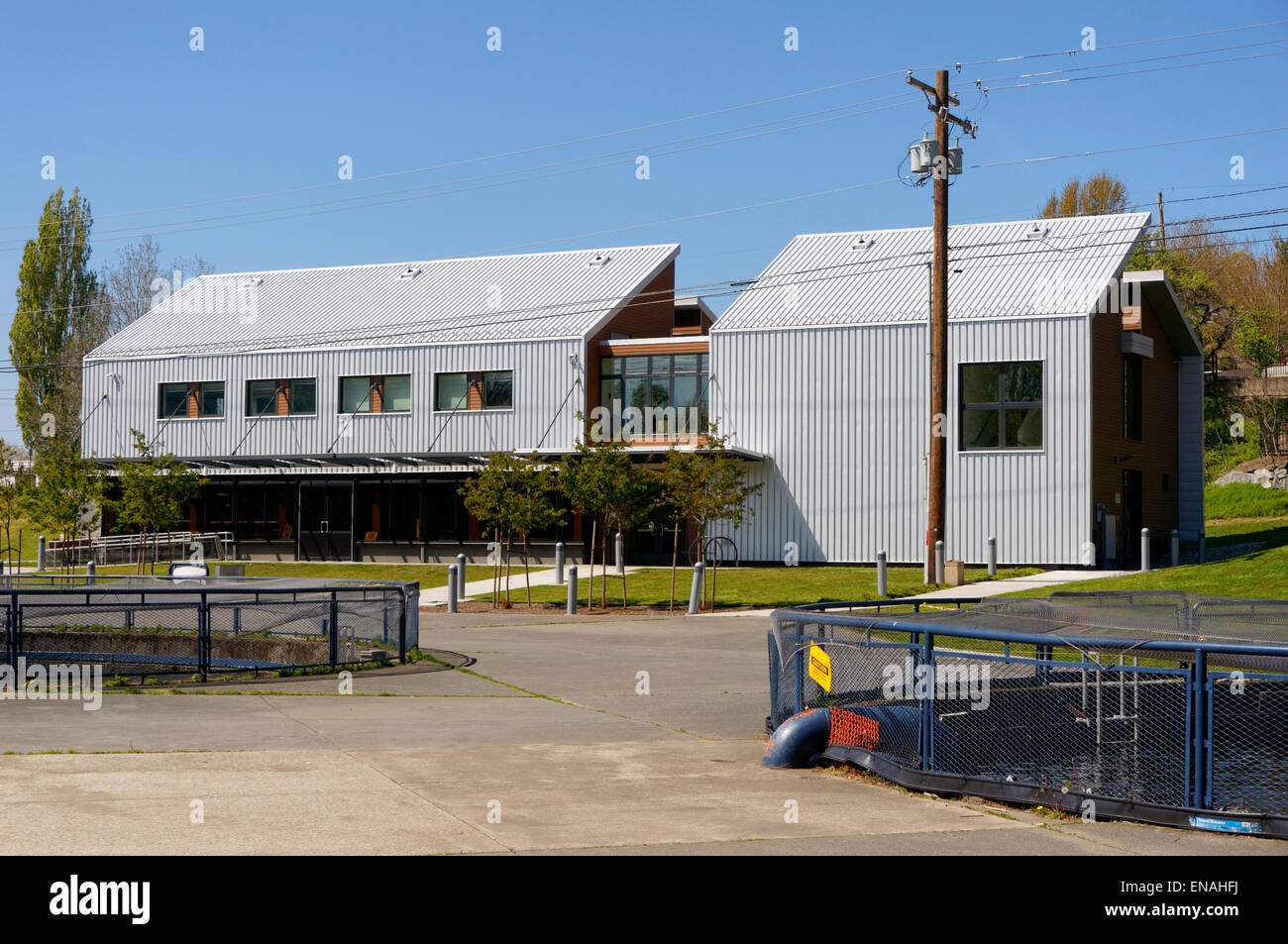 The Perry Center for Fisheries and Aquaculture Sciences, Maritime Heritage Center, Bellingham, Washington state, - Stock Image