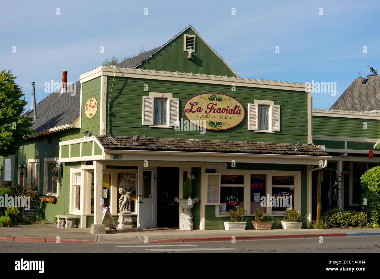 La Traviata Italian Restaurant In La Conner Washington State Usa