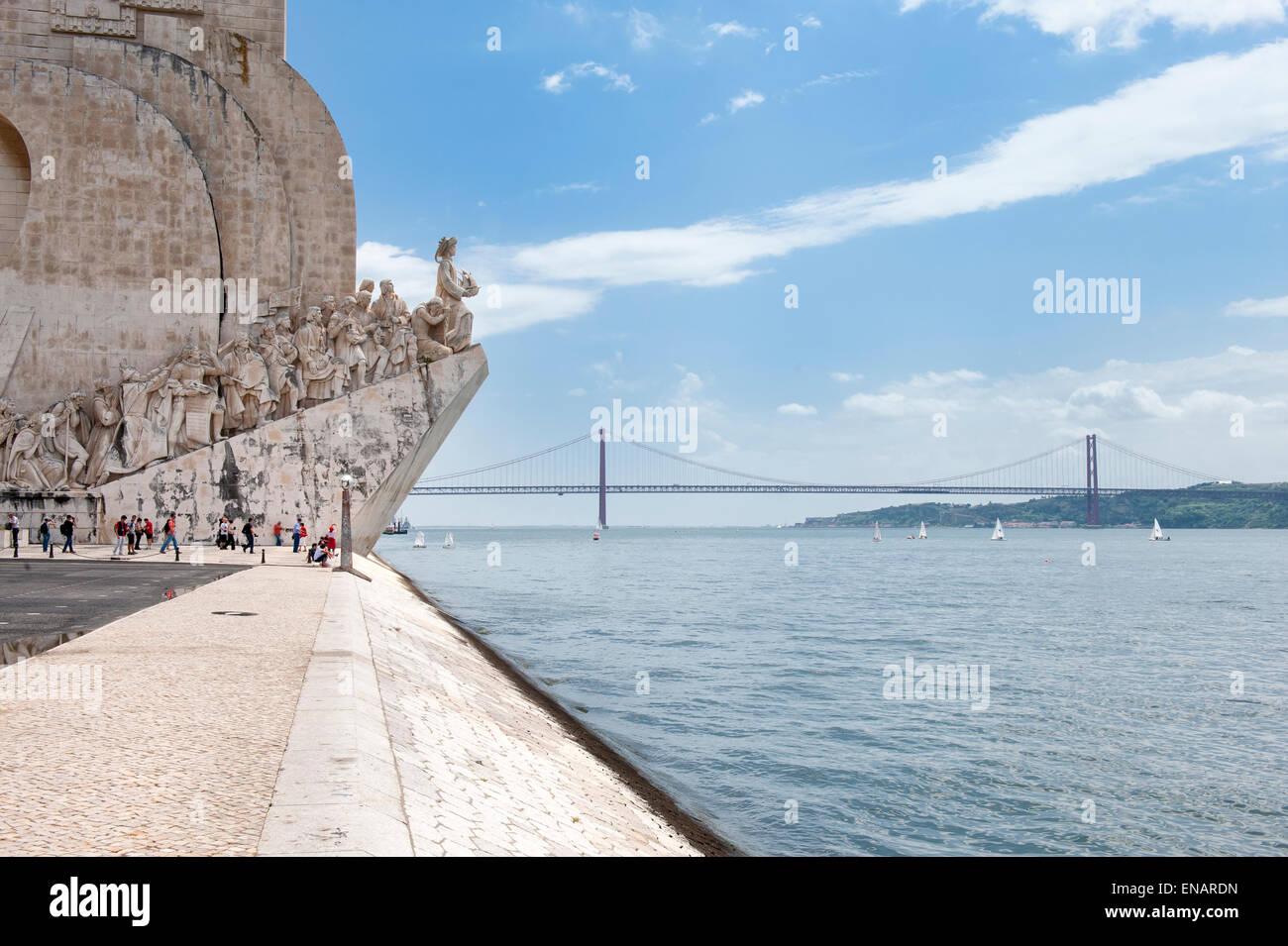 Padrão dos Descobrimentos (Monument to the Discoveries), Lisbon, Portugal - Stock Image