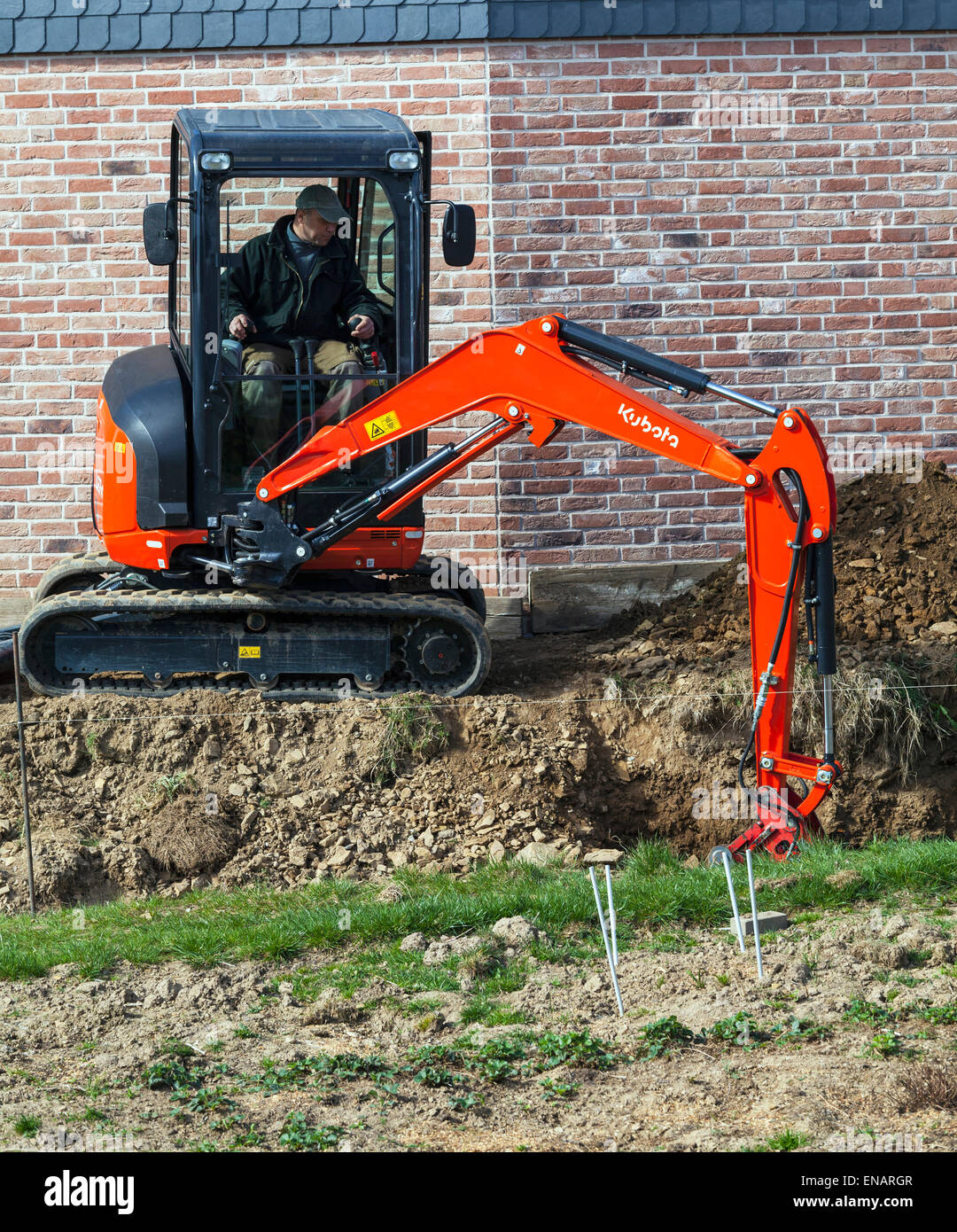 Excavator in operation. Stock Photo