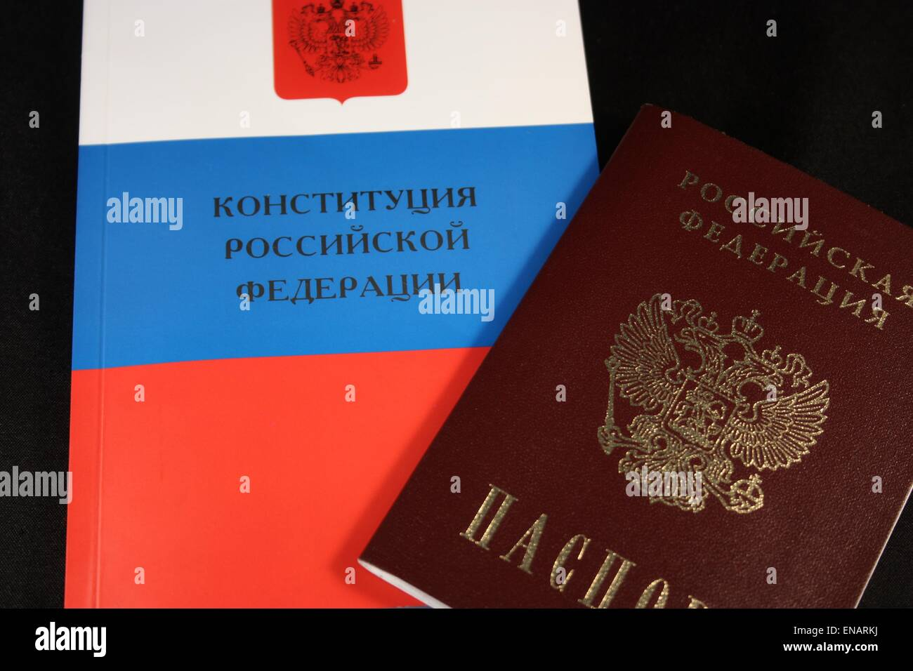 The Constitution and the passport. Russian Federation - Stock Image