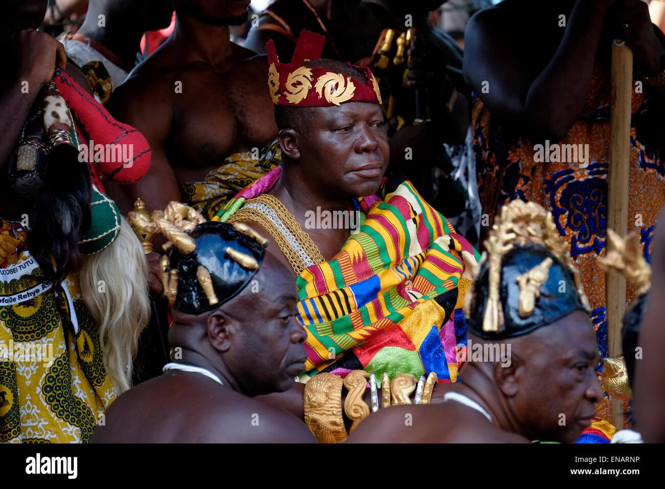 Otumfuo Nana Osei Tutu II the 16th King Asantehene traditional ruler of the  Kingdom of Ashanti