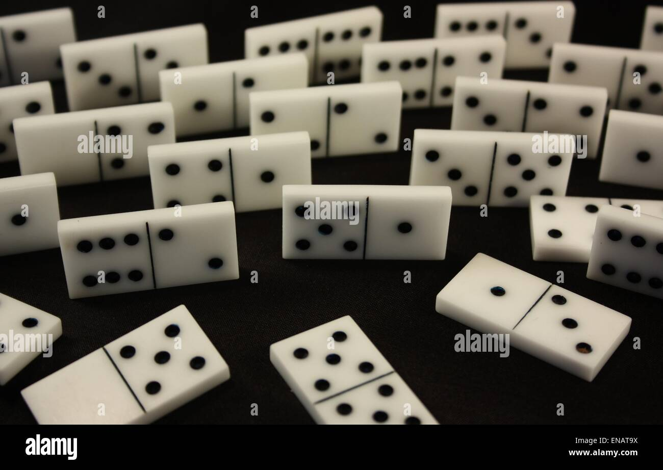 Dominos. Board game - Stock Image