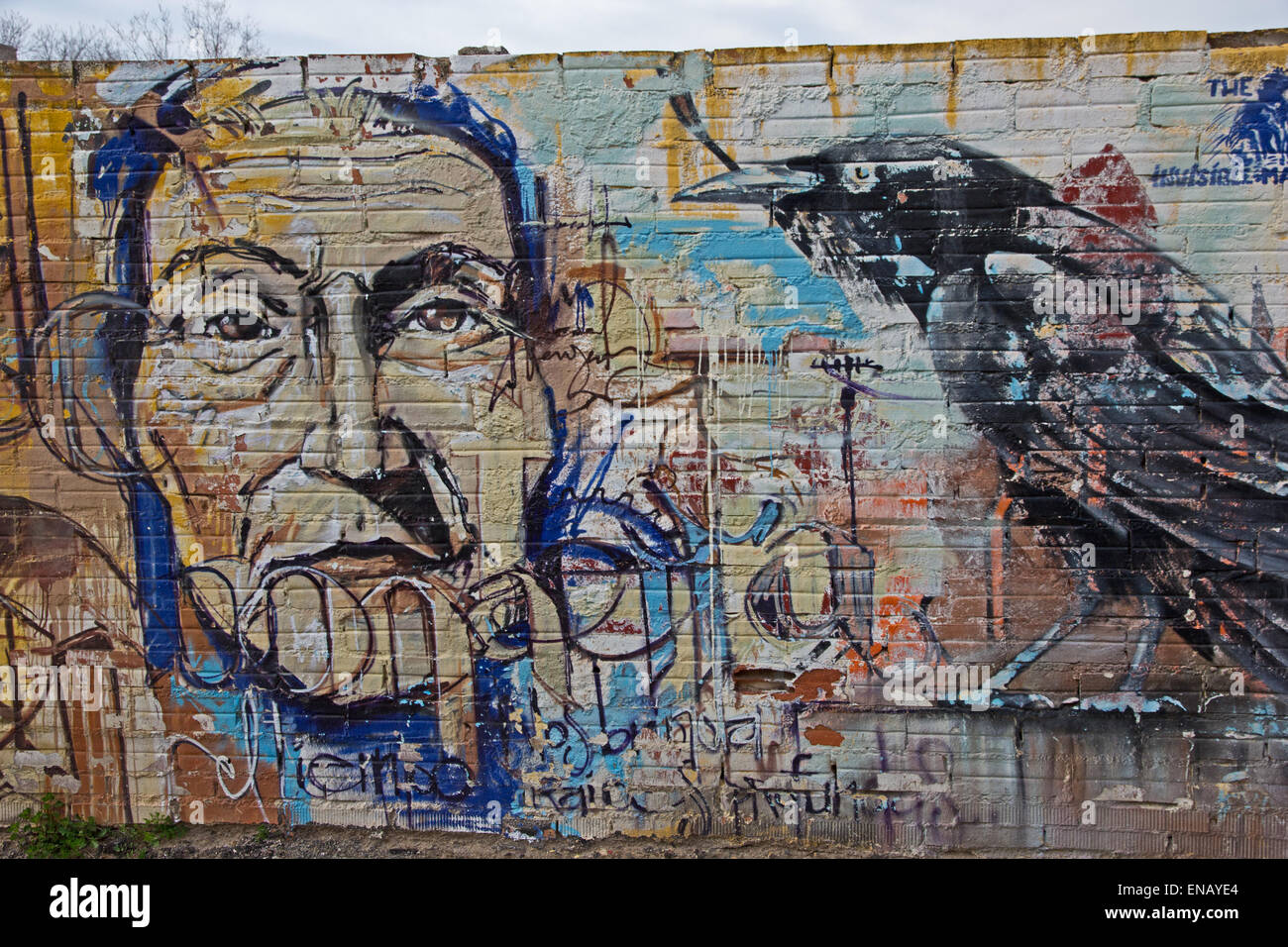 Graffiti On Wall At Roadside Stock Photo Alamy