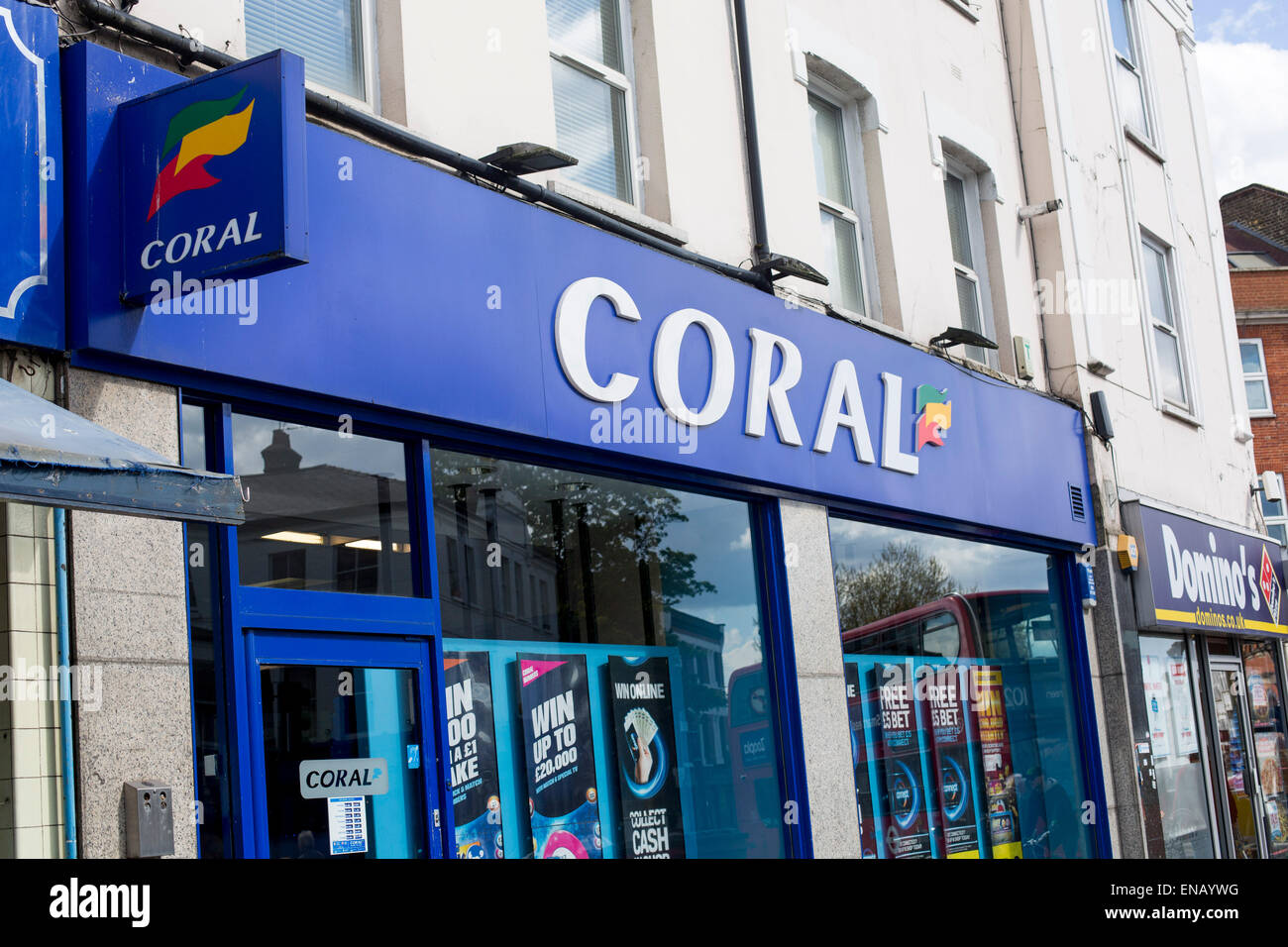 Coral Bookmakers bookmaking bookies shop betting - Stock Image