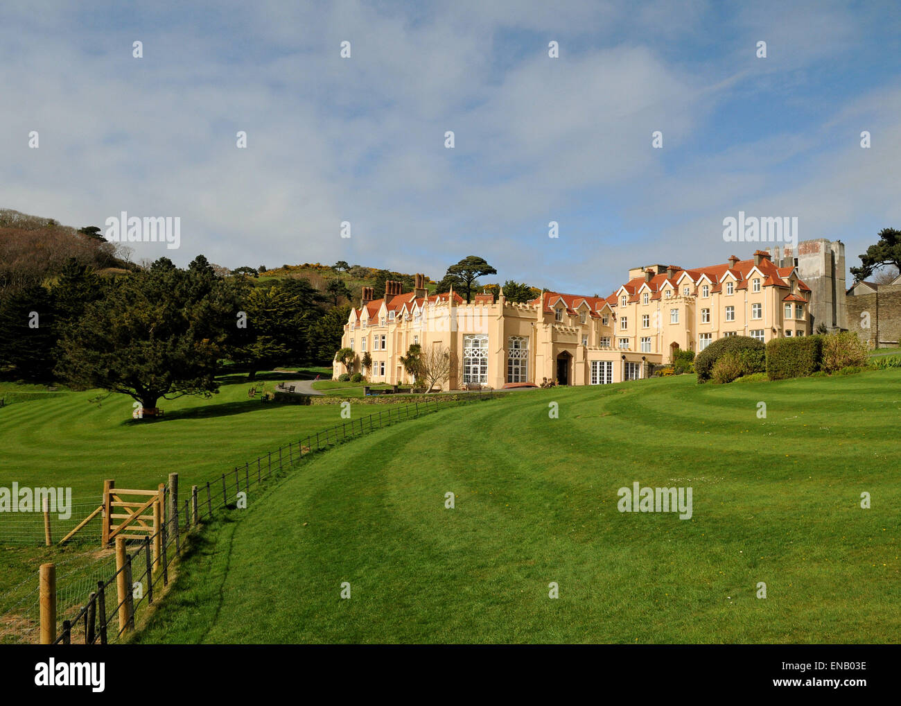 Lee Abbey. Ecumenical Christian Organisation, Retreat and Holiday Centre near Lynton North Devon - Stock Image