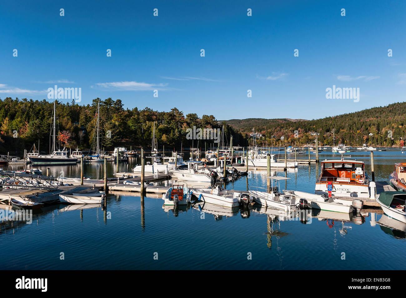 Northeast Harbor, Maine, USA - Stock Image