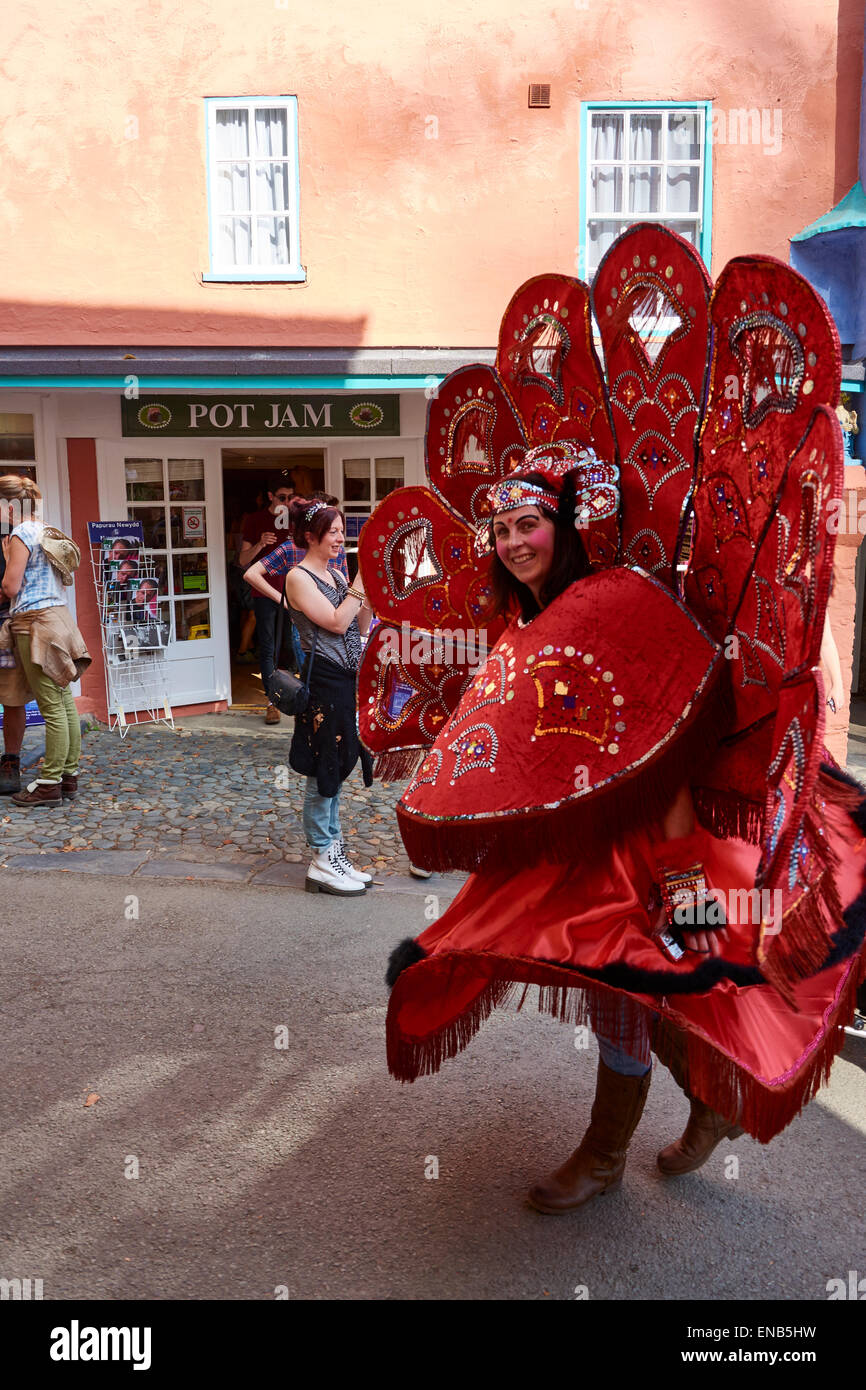 Parade at Festival No.6, Portmeirion, Wales, UK Stock Photo