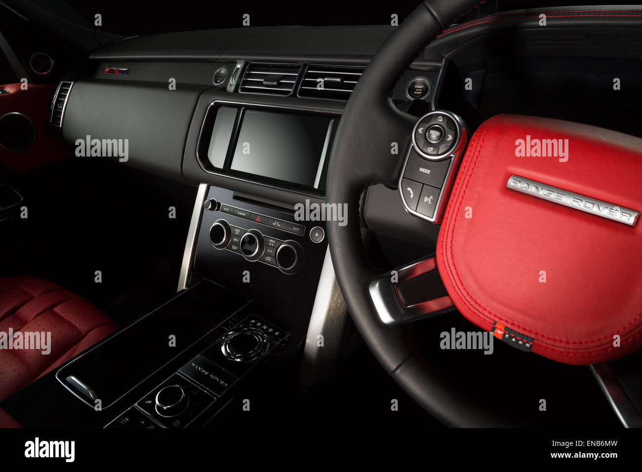 Range Rover Evoque Black Red Interior