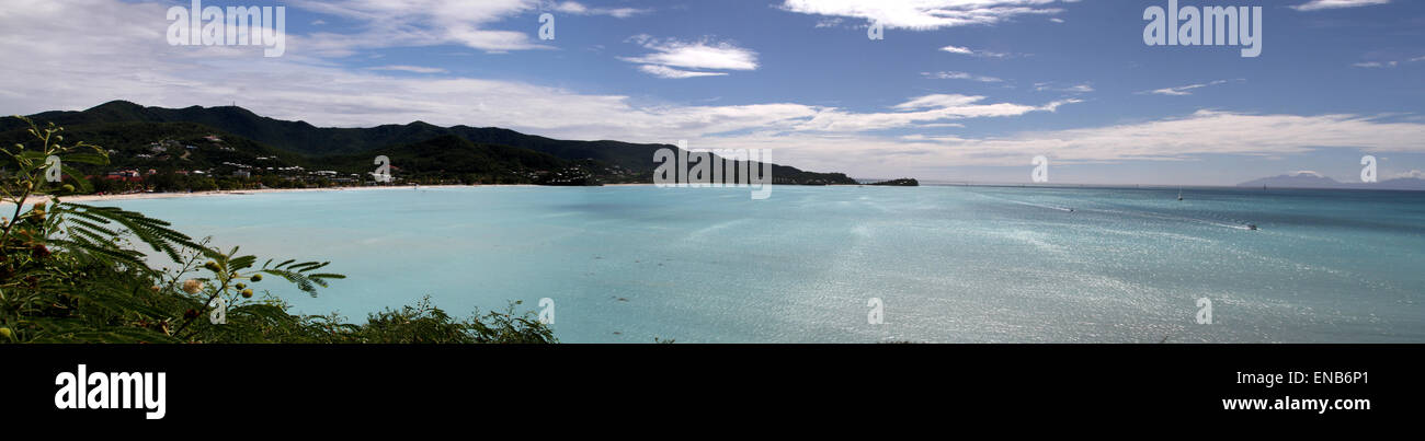 Jolly Beach and Harbour, Antigua - Stock Image