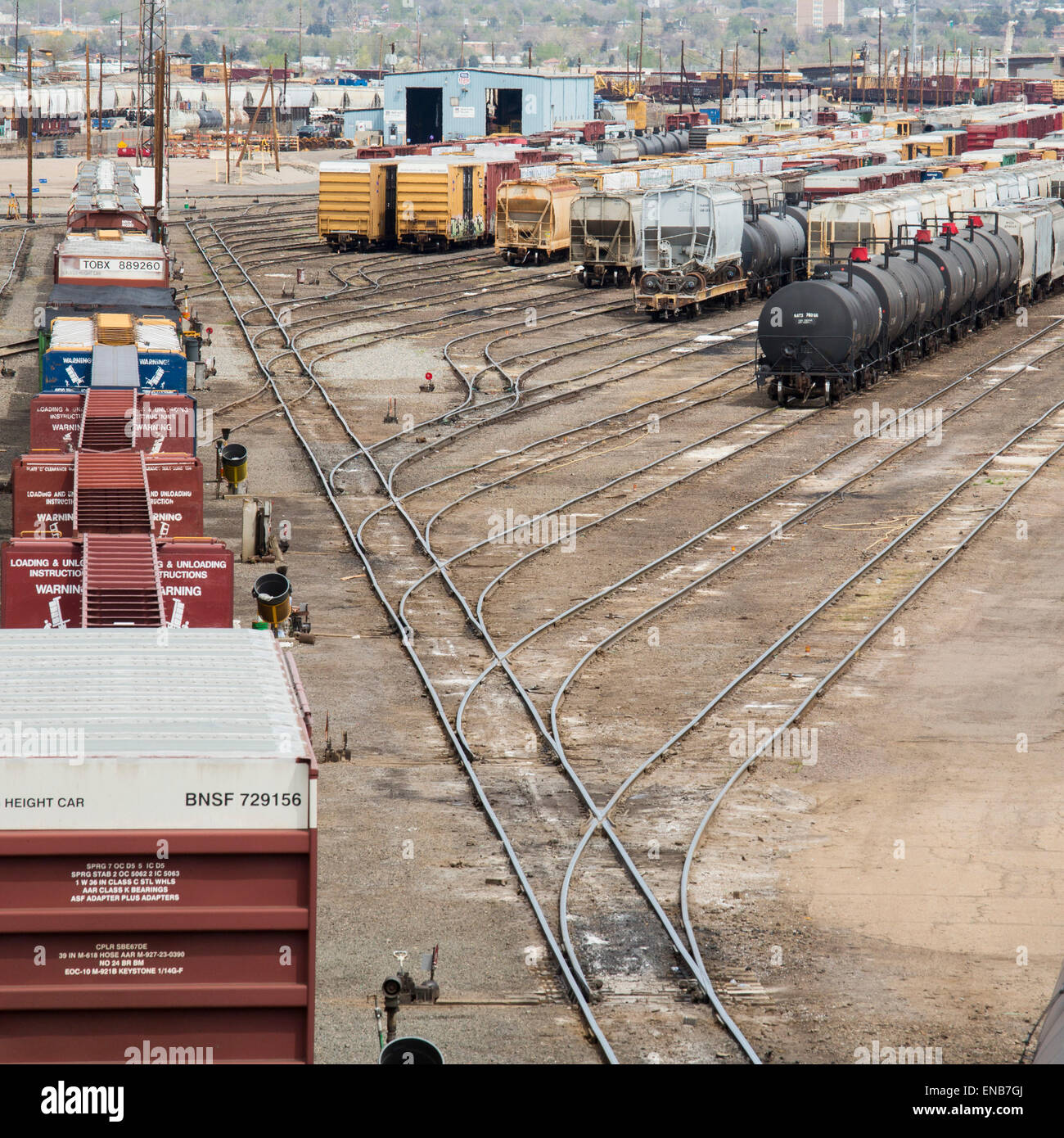 Garage Franc Denver-colorado-the-union-pacific-denver-north-rail-yard-ENB7GJ