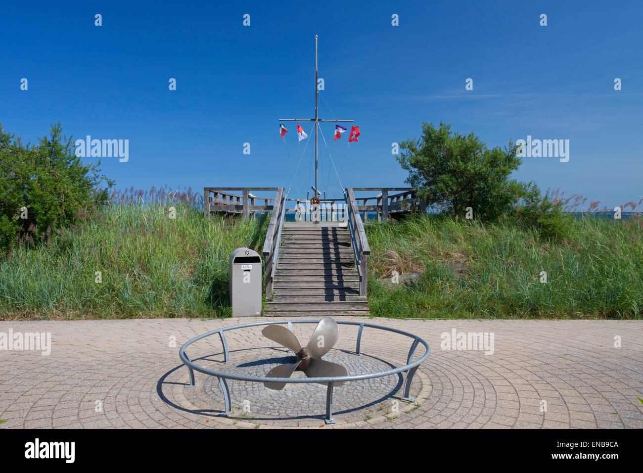 Sailors' monument along the promenade at the seaside resort Haffkrug, Scharbeutz, Schleswig-Holstein, Germany Stock Photo