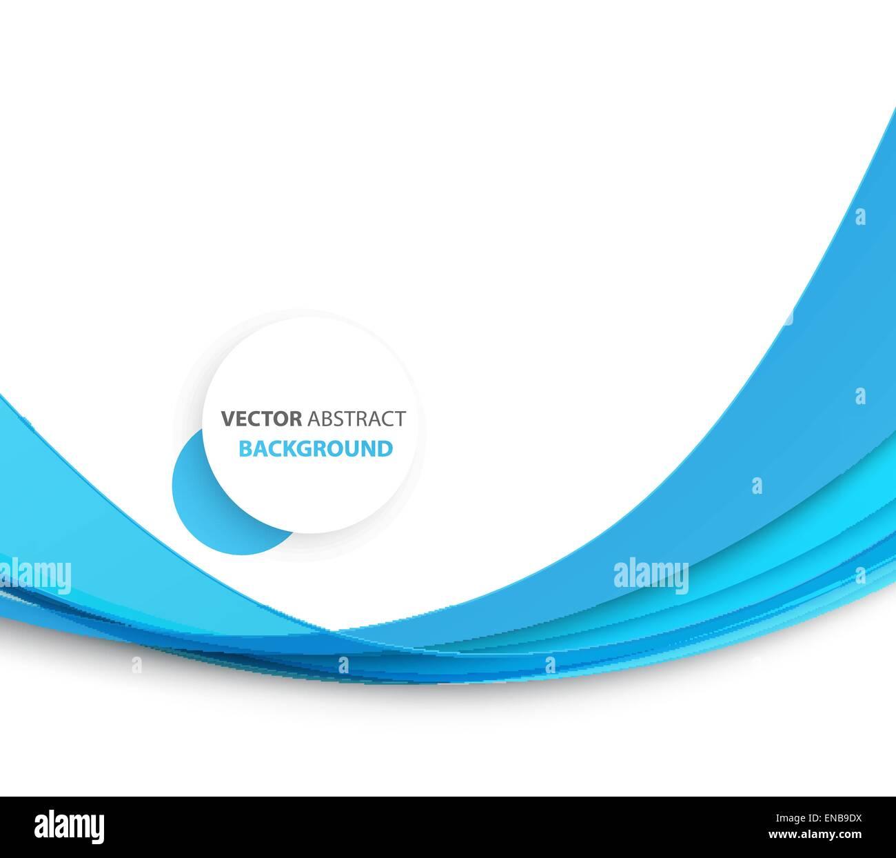 Abstract Blue Wave Template Background Brochure Design