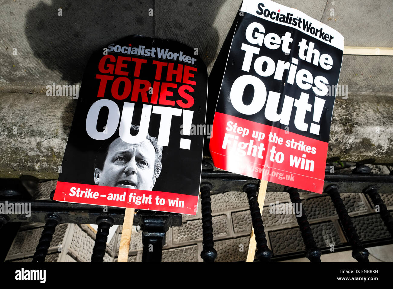 Tories Out - Stock Image