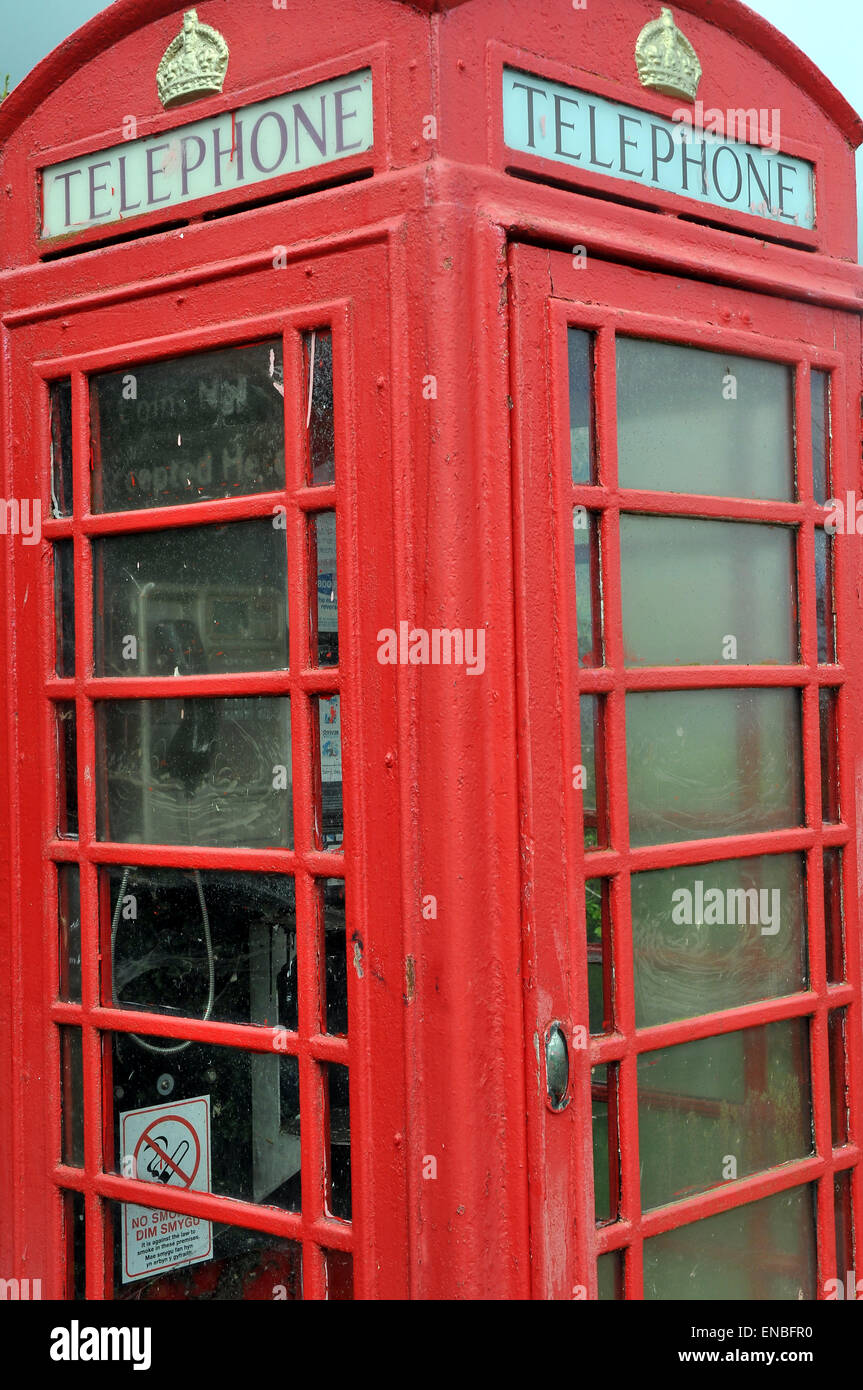 An old telephone box - Stock Image