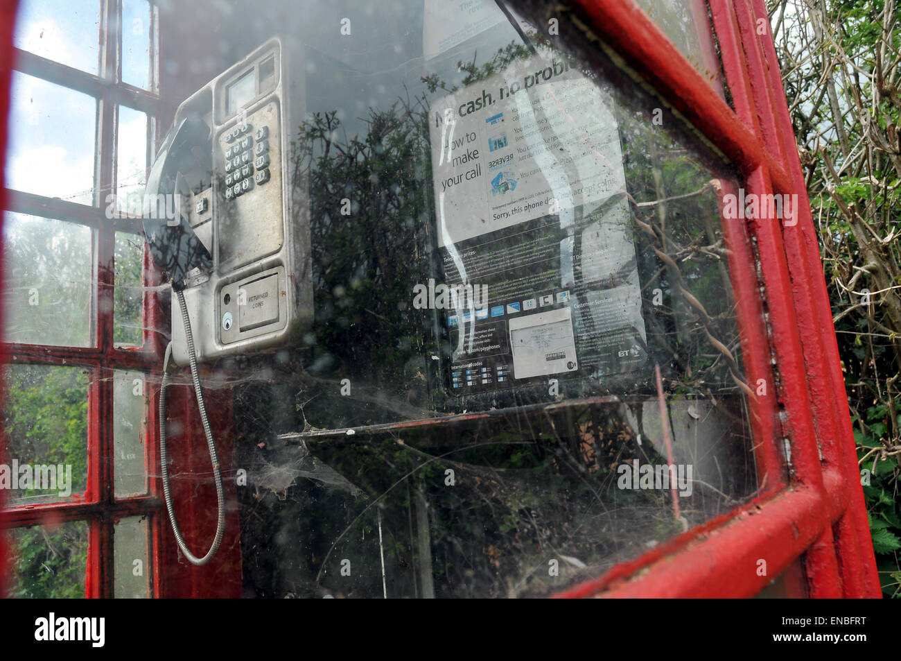 An old telephone box. - Stock Image