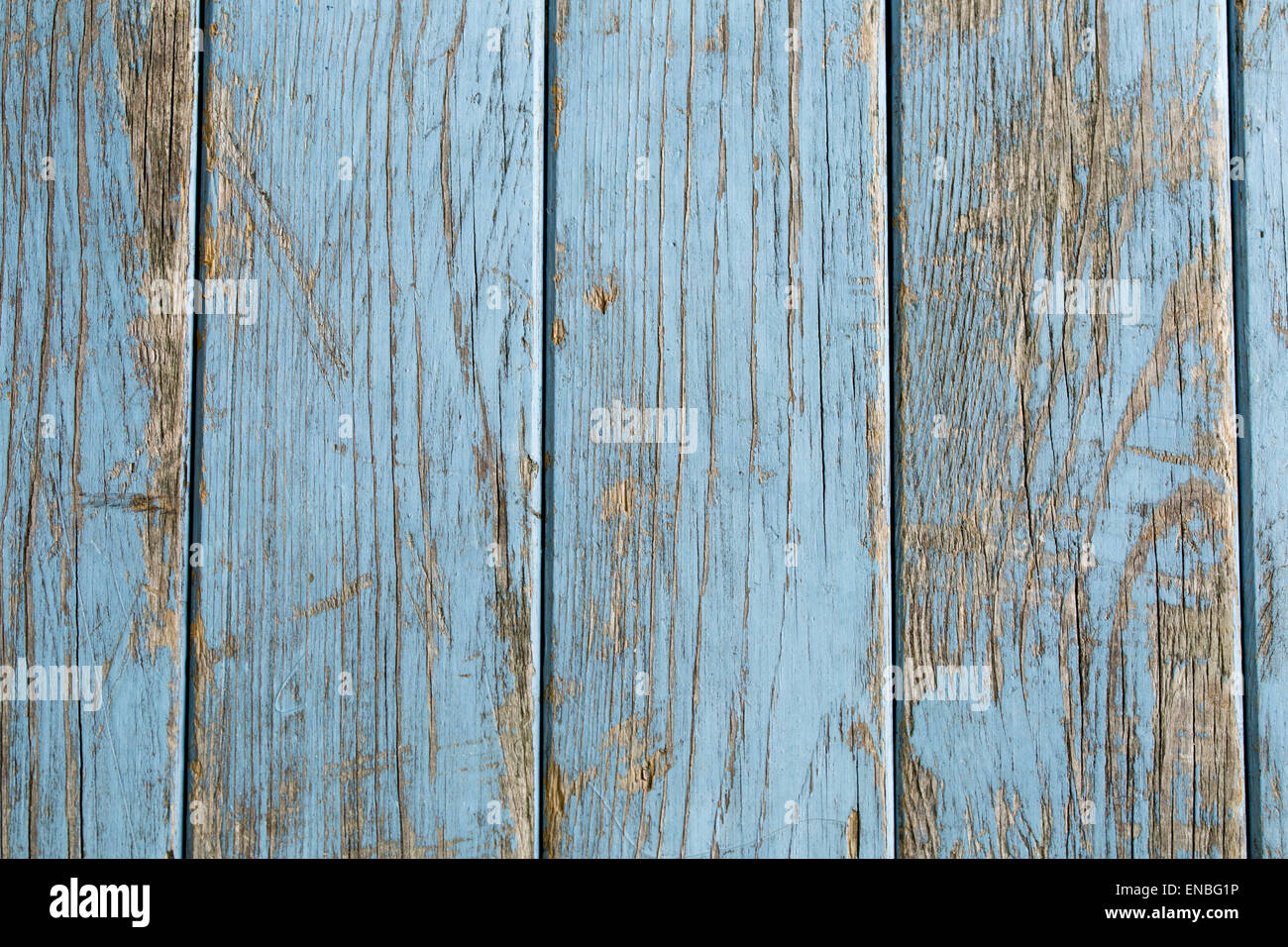turquoise rustic wooden background with copy space - Stock Image