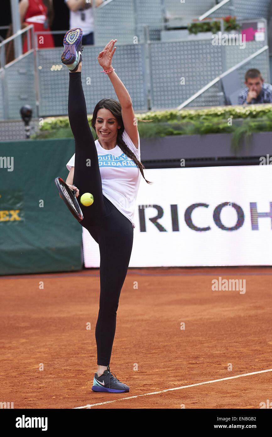 Madrid, Spain  1st May, 2015  Almudena Cid play tennis during Mutua